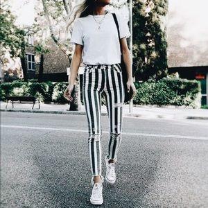 Zara Striped Denim